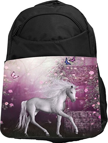 Rikki Knight UKBK White Unicorn on Pink Fairytale Tech Ba...