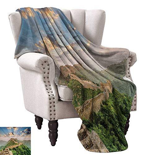 (Super Soft Lightweight Blanket,Oriental Medieval Blockade on High Lands Old Wonders The Past Picture 90