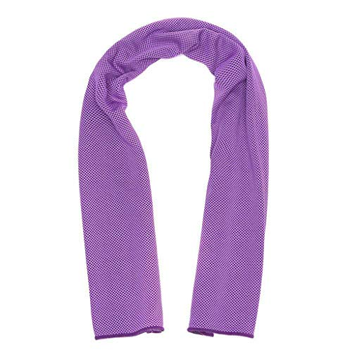 (Multifunction Outdoor Sport Cooling Towel - Instant Ice Cooling Towel for Sports Workout Fitness Gym Yoga Hiking Pilates (Purple))