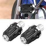 ROWEQPP 1 Pair of 10mm Motorcycle Falling Protectors Exhaust Frame Slider Anti Crash Pad Protector Black Silver