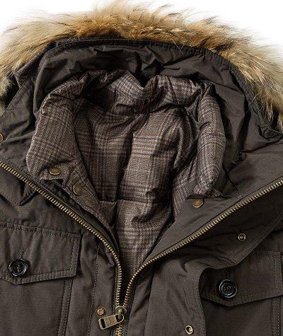 Henry Cotton's Herren Mantel Mikrofaser Warme Jacke Unifarben, Größe: 56, Farbe: Grün