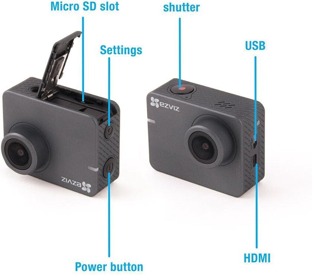 Ezviz S2 Lite Fhd 1080p 60fps Sport Action Kamera 8 Mp 150 2 Zoll Touchscreen Wlan Ble 4 0 Wdr Verbesserter Fahrmodus 256 Gb Unterstützung Low Light Modus App Und Funkfernbedienung Bekleidung