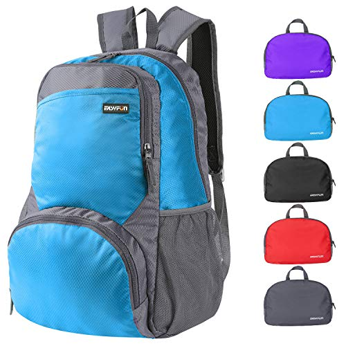 Easyfun Travel Lightweight Hiking Backpack Foldable Camping Outdoor Day Pack Packable Backpacks Small Daypack for Men and Women – Grey Blue