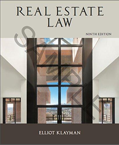 Real Estate Law (REAL ESTATE LAW (KARP, JAMES))