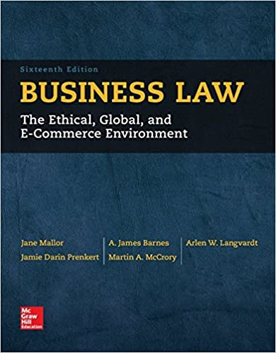 Business Law 16th Edition