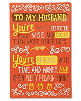 In Love with You Father's Day Card for Husband with Foil