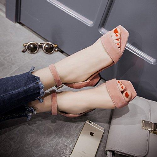 Satin Dames Femmes Mode Sandales Pink De Chaussures Faible Toe Bloc Peep Talon Dressy Aqoos Nuptiale Courroie Cheville kn0wPO