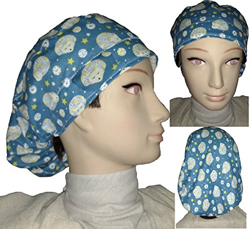 Surgery cap. Woman. ERIZOS. for long hair, surgery, dentist, veterinary, kitchen, etc. Towel in front, perfect fit and fits all the hair. Handmade