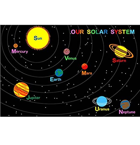 Large Classroom Rugs for Kids Our Solar System Area Rug 4ft x 6ft New Design #6 Manufacturer's Suggested Retail Price (Carpet Prices)