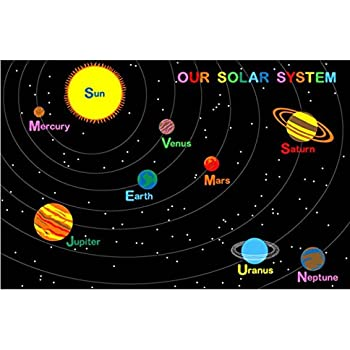 this item large classroom rugs for kids our solar system area rug 4ft x 6ft new design 6 suggested retail price - Classroom Rug