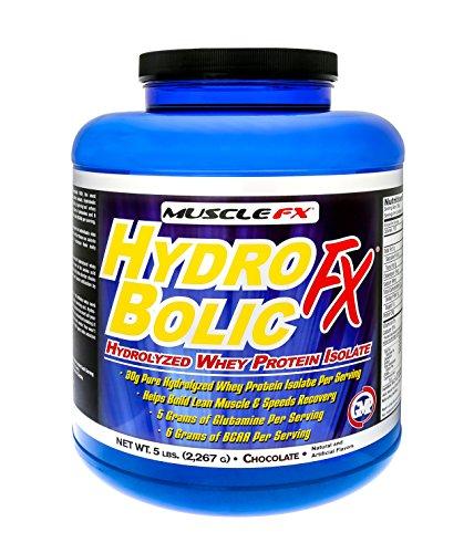 MUSCLE FX HYDROBOLIC FX Pure Hydrolyzed Whey Protein Isolate 5 lbs Vanilla