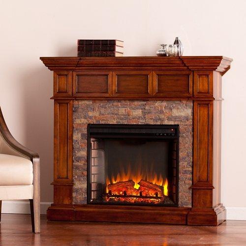 Southern Enterprises Merrimack Corner Electric Fireplace in ()