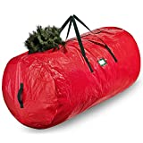Artificial Christmas Tree Storage Bag - Fits Up to 7.5 Ft Holiday Xmas Disassembled Trees with Durable Reinforced Handles & Dual Zipper - Waterproof Material Protects from Dust, Moisture & Insects