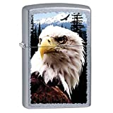 White Eagle Patriotic Americana Zippo Outdoor Indoor Windproof Lighter Free Custom Personalize Engraved Message Permanent Lifetime Engraving on Backside