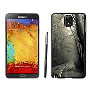 NEW Unique Custom Designed Samsung Galaxy Note 3 N900A N900V N900P N900T Phone Case With Creepy Forest Road_Black Phone Case