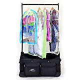 Closet Trolley Dance Bag with Garment Rack BLACK - NEW FACTORY 2ND