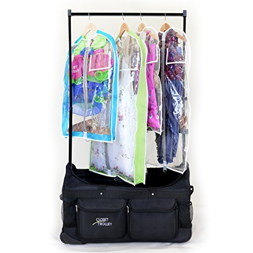 Bag Trolley Black (Closet Trolley Dance Bag with Garment Rack BLACK - NEW FACTORY 2ND)