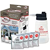 Full Exterior Bottle Kit-Bottle, Lid with Hose Attachment, and 1lb.Bag Crystal Powder-Outdoor Cleaner- Removes Oil, Grease, and Grime- Reaches up to 27 Feet.