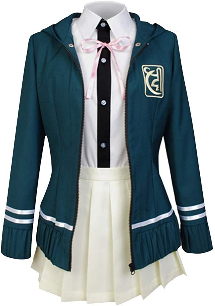 Danganronpa Dangan-Ronpa 2 Chiaki Nanami Hoodie Skirt Anime Cosplay Costumes