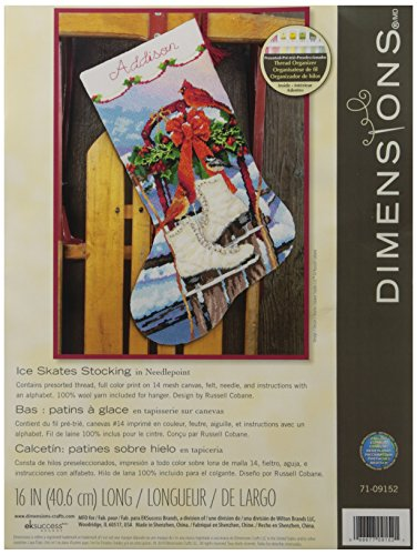 Dimensions Crafts Needlecrafts Needlepoint Stocking Kit, Ice Skates