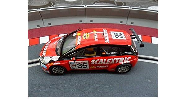 Coche Scalextric Seat Leon Supercopa con luces. Piloto Nogues. ref ...