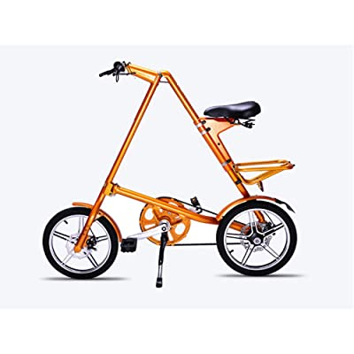 LINGS Foldable Bicycle Kids' Bikes 16 inch Adult Folding Bicycle Aluminum Alloy Children's Bicycle 16 inch Ladies Folding Scooter: Home & Kitchen