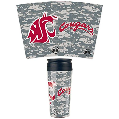 Washington State Cougars 16oz Plastic Travel Mug - Digi Camo