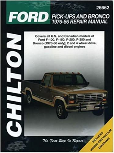 picture of 1986 ford f 150 pick up engine diagram ford pick ups and bronco  1976 86  chilton s total car care repair  ford pick ups and bronco  1976 86