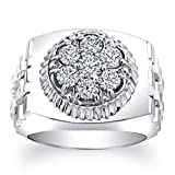Men's wedding band Watch-style ring 1.00 TCW