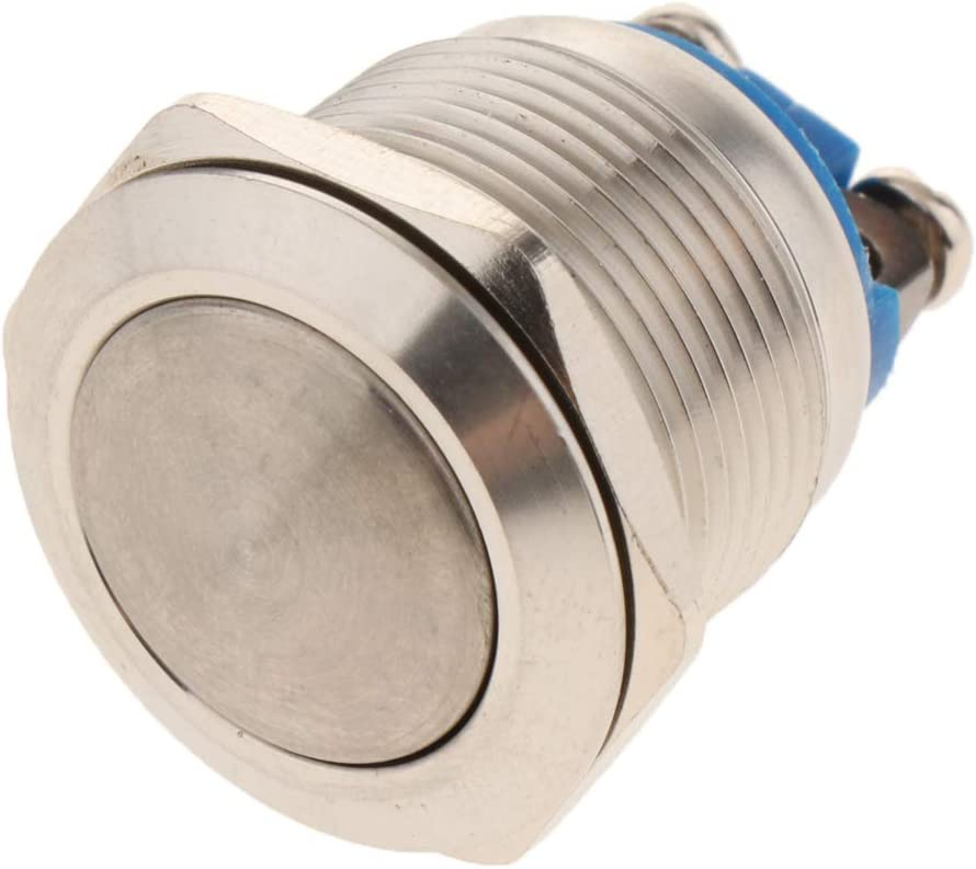 FLAMEER Mini Push Button Drucktaster Druckknopf f/ür Auto KFZ Industrielle Boot Access Control K#