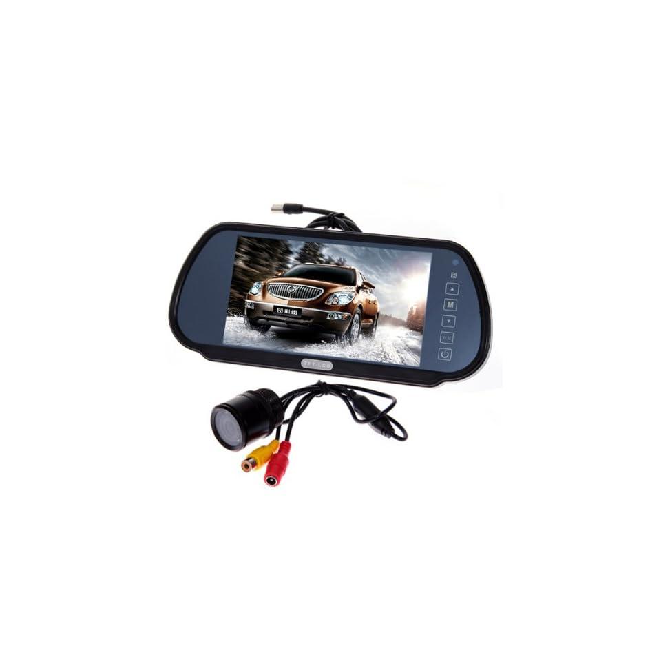 7 Security LCD Wide Screen Car Rear View Backup Parking Mirror Monitor + E325 Waterproof car rear view camera