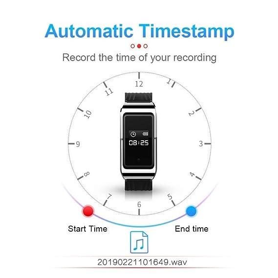 YF&FS Audio portátil SmartWatch Video Reunión de Negocios Grabador ...