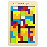 Elloapic Wooden Tangram Jigsaw Tetris Puzzle Toy Educational Game for whole family