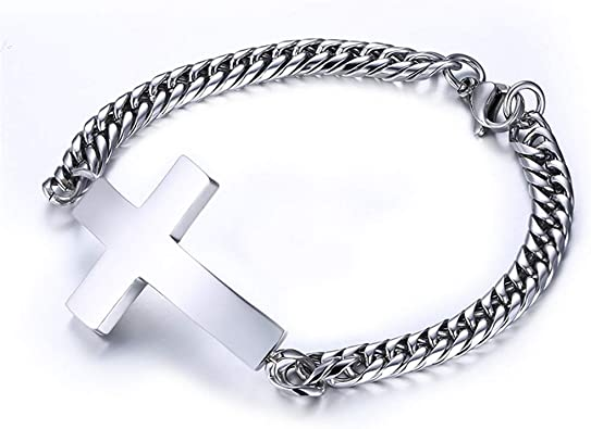 Hommes en acier inoxydable argent Football Bracelet Bijoux Cadeau Pendentif Bracelet Bangle