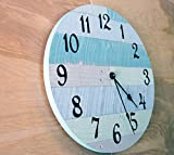 Rustic-Beach-Wall-Clock-16-diameter-with-Arabic-numbers-handmade-beach-wall-clock-nautical-theme-clock-beach-house-clock-beach-house-decor-coastal-cottage