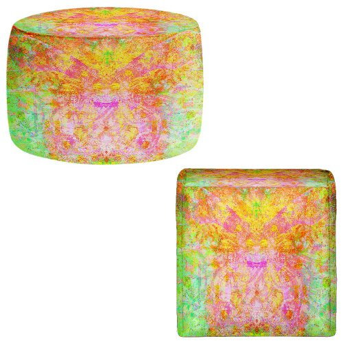 Foot Stools Poufs Chairs Round or Square from DiaNoche Designs by China Carnella - Firefly by DiaNoche Designs