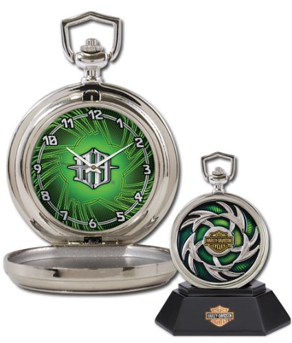 Harley-Davidson Custom Chrome Pocket Watch - Voltage from the Franklin Mint