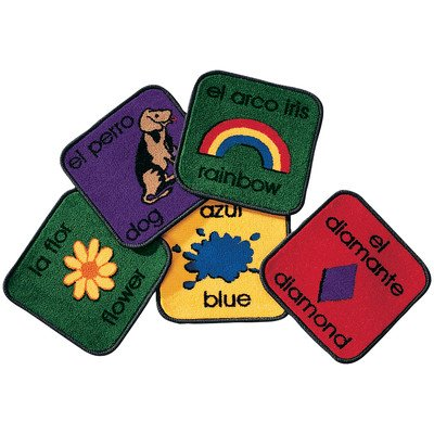 Spanish Carpet (Carpet Kits Printed Bilingual Tile Kids Rug (Set of 18) Rug Size: Square 12')