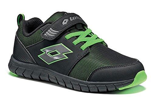 Lotto - Zapatillas de tenis para niño Schwarz (BLACK/GREEN FLAG)