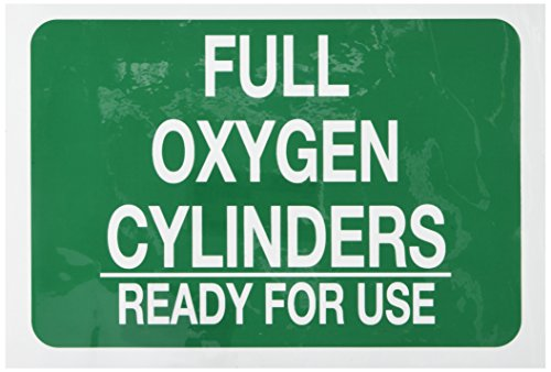 """BRADY 125699 Chemical and Hazard Sign, Legend """"Full Oxyge..."""