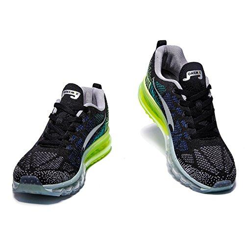 Onemix Respirante Sneakers Mixte Adulte Noir Vert 1st Music Gris Air De Gym Chaussures Femme Course Generation Homme Rhythm Nn0Ovmy8w
