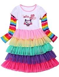Girl's Party Birthday Princess Unicorn Rainbow Dress...
