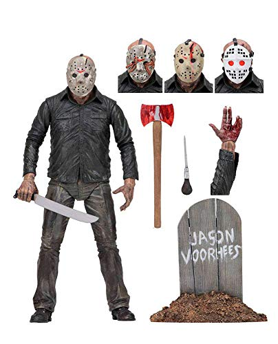 "Neca w/Accessories Friday The 13th Jason Articulated 7"", Multicoloured"