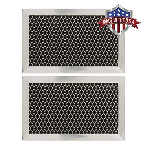 GE JX81J, WB02X11124, WB06X10823 Microwave Recirculating Charcoal Filter (Made in USA) (2-Pack) (Ge Kit Microwave Filter Charcoal)