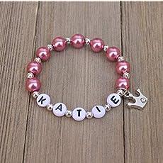 Amazon Com Personalized Name Bracelets Girls Boys Beaded Name