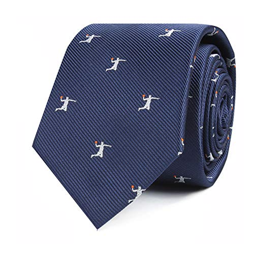 Basketball Fan Tie | Bball Lover Gift for Him | Gift for Men | Work Ties for Him | Bday Gift for Guys (Basketball Dunk)