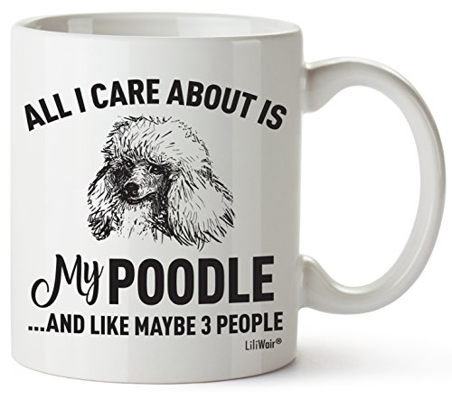 Poodle Mom Gifts Mug For Women Men Dad Decor Lover Decorations Stuff I Love Poodles Coffee Merchandise Accessories Talking Art Apparel Funny Birthday Gift Home Supplies Products Dog Coffee Cup Mugs