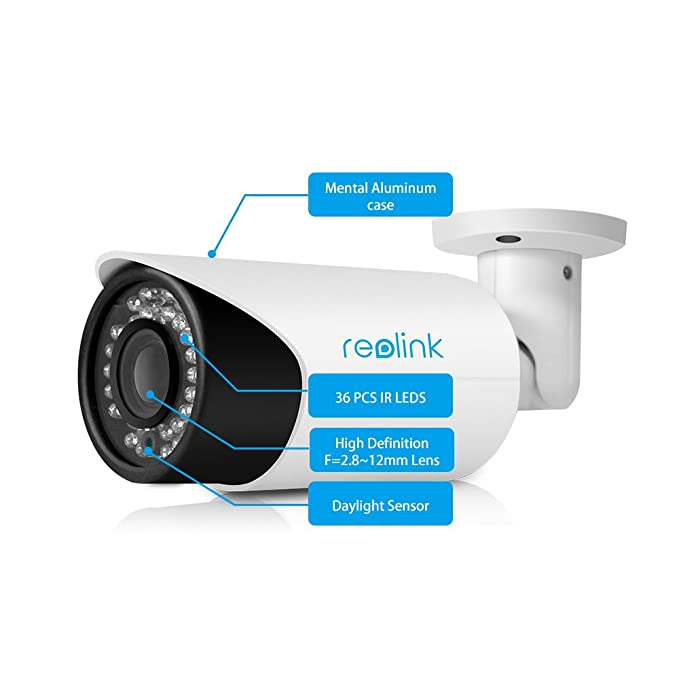 1 opinioni per Reolink RLC-411S 4MP 4X Optial Zoom PoE Bullet AutoFocus Security IP Camera,