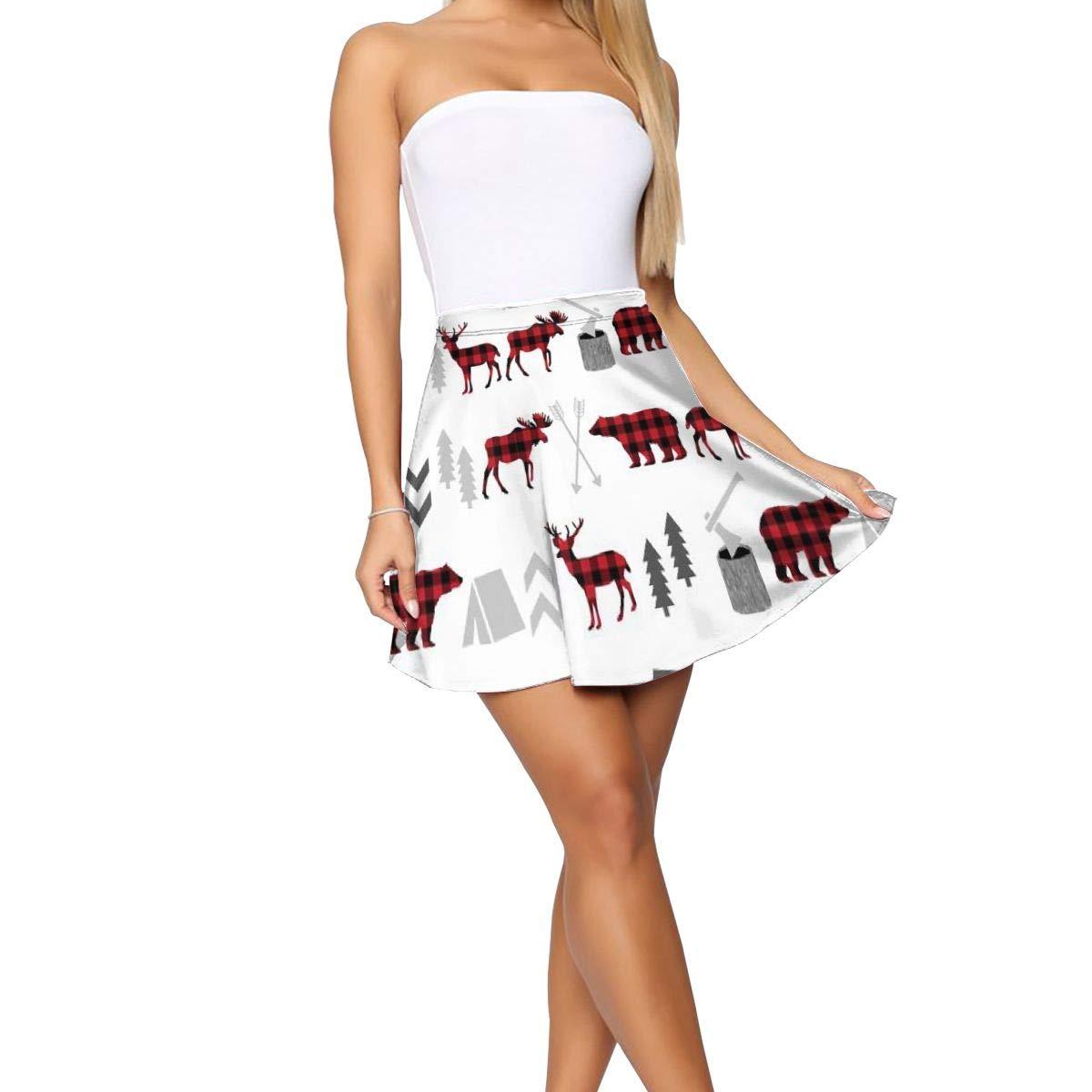 Womens Pleated Skirts Fashion Shiny Short Mini Skirt Slim Fit Wave Skirt