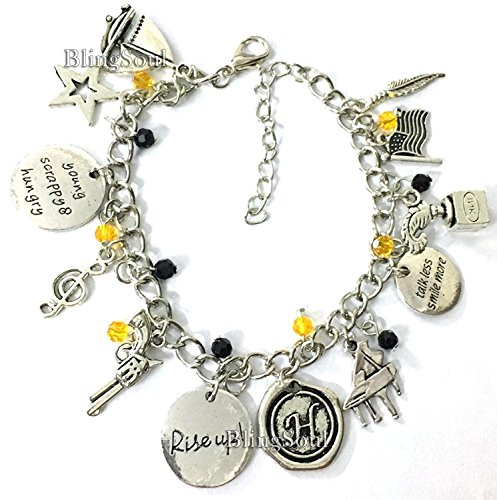 BlingSoul Alexander Musical Charm Bracelet Soundtrack Jewelry Merchandise - Rise Up American Lin-Manuel Miranda Chain Friendship Gifts Women Girls Costumes -